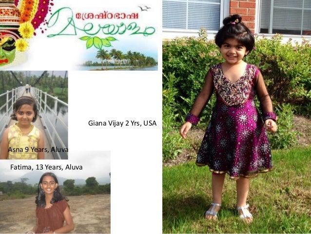 Giana Vijay 2 Yrs, USA Asna 9 Years, Aluva Fatima, 13 Years, Aluva