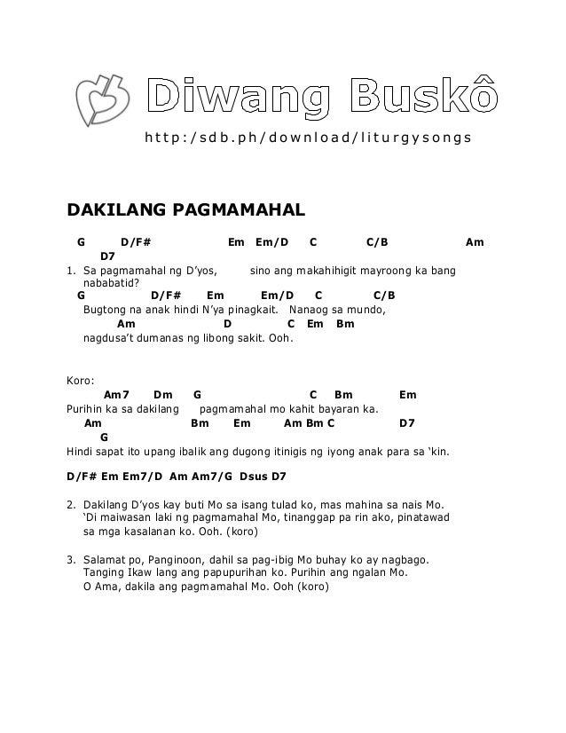 kahapon at pag ibig guitar chords Lyrics results « VideokeMan
