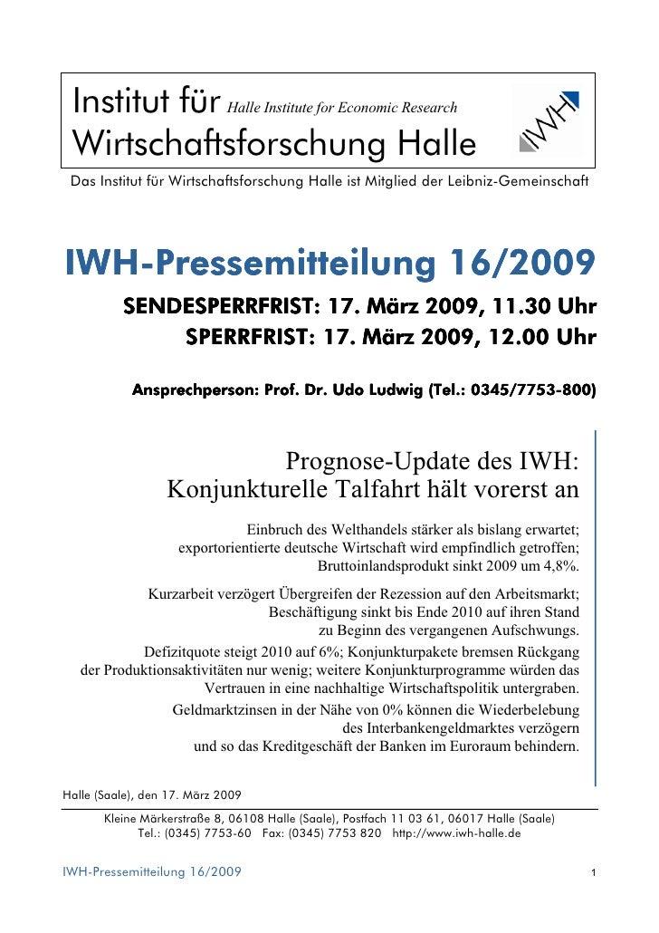 Institut für Halle Institute for Economic Research  Wirtschaftsforschung Halle  Das Institut für Wirtschaftsforschung Hall...
