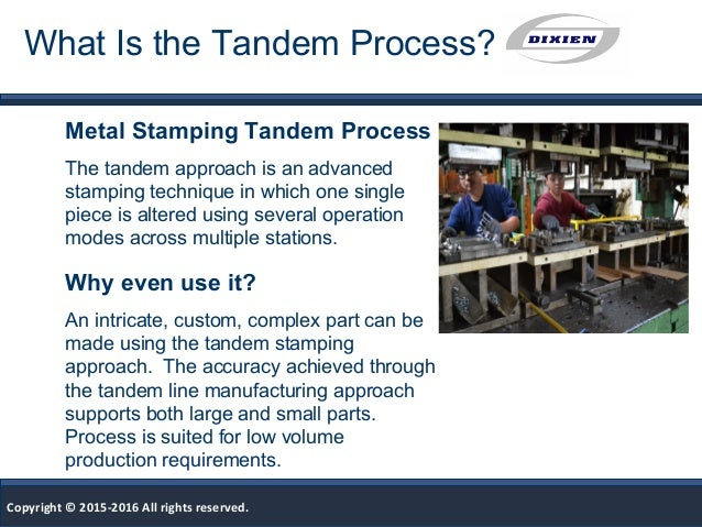 What Is Tandem Metal Stamping