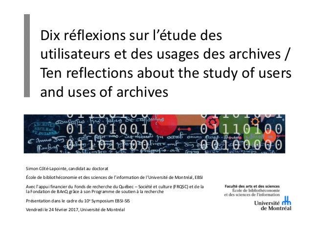 Simon Côté-Lapointe, candidat au doctorat École de bibliothéconomie et des sciences de l'information de l'Université de Mo...
