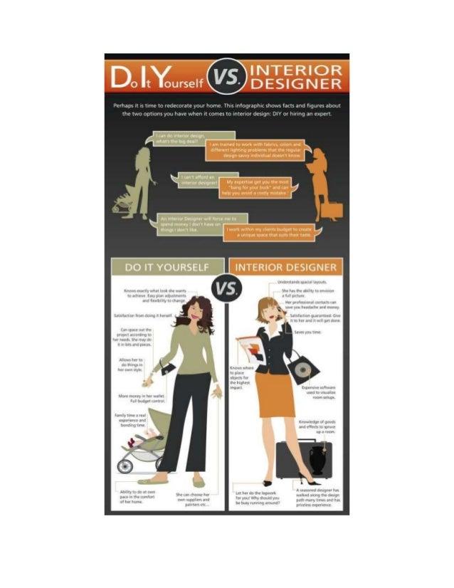Re Decorating Info Graphic DIY Vs Interior Designer Furniture Buying Plans