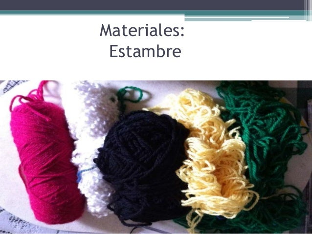 Materiales:  Estambre