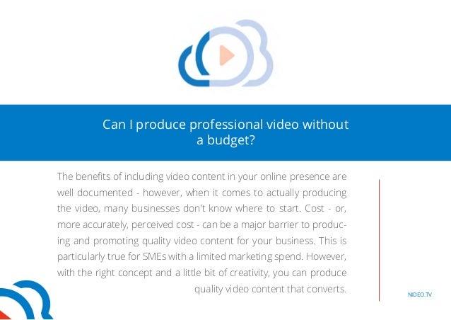 DIY: Business video on a budget Slide 3