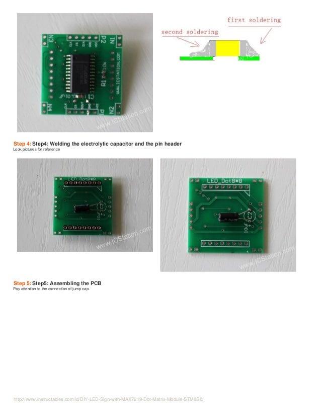 DIY LED Sign with MAX7219 Dot Matrix Module STM8S003F3 MCU