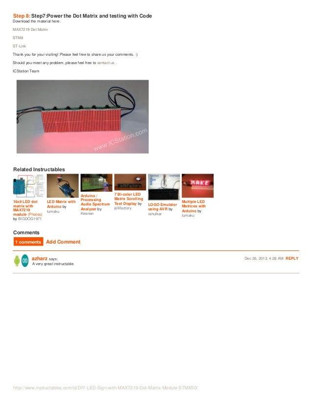 DIY LED Sign with MAX7219 Dot Matrix Module STM8S003F3 MCU for AVR PI…