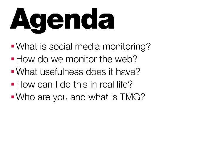 DIY Social Media Monitoring Slide 2