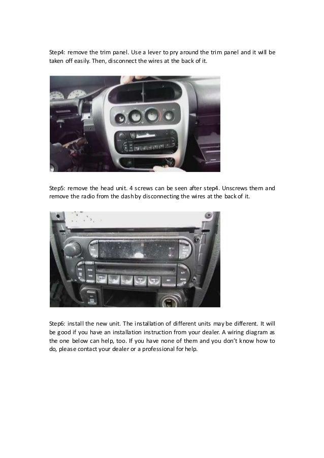 Diy 2004 2005 Dodge Neon Radio Removal And Installation