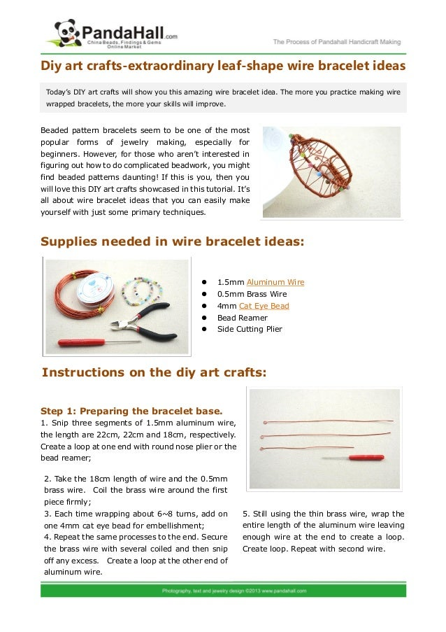 Extraordinary leaf-shape wire bracelet ideas