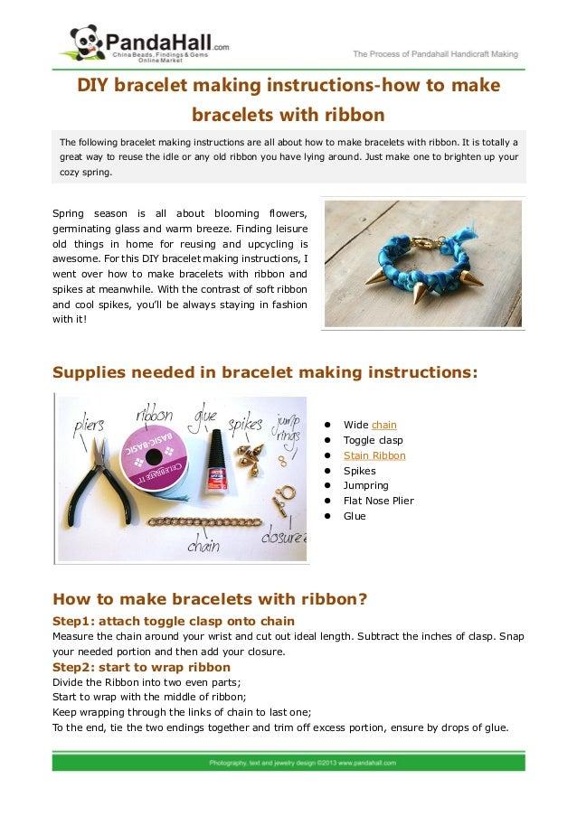 Diy bracelet making instructions how to make bracelets for Net making instructions