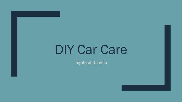 DIY Car Care Toyota of Orlando