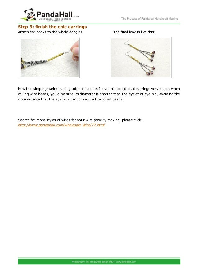 Diy Coiled Bead Earrings Simple Jewelry Making Instructions