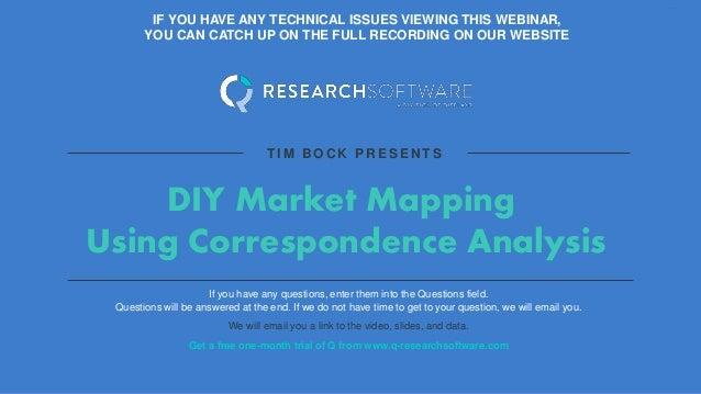 Webinar Slides Diy Market Mapping Using Correspondence Analysis