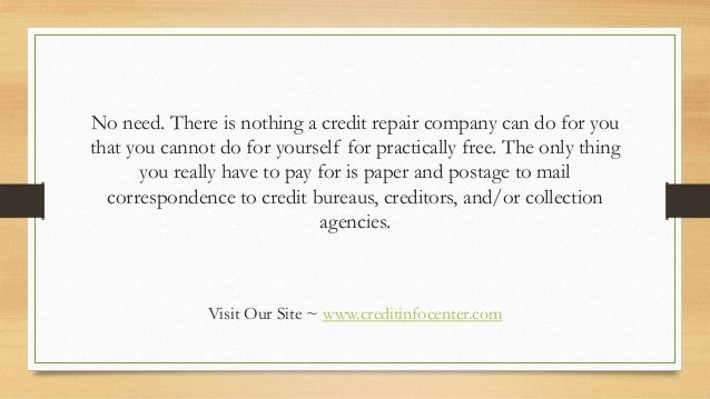 Diy credit repair what are you waiting for 4 no need there is nothing a credit repair company can solutioingenieria Images
