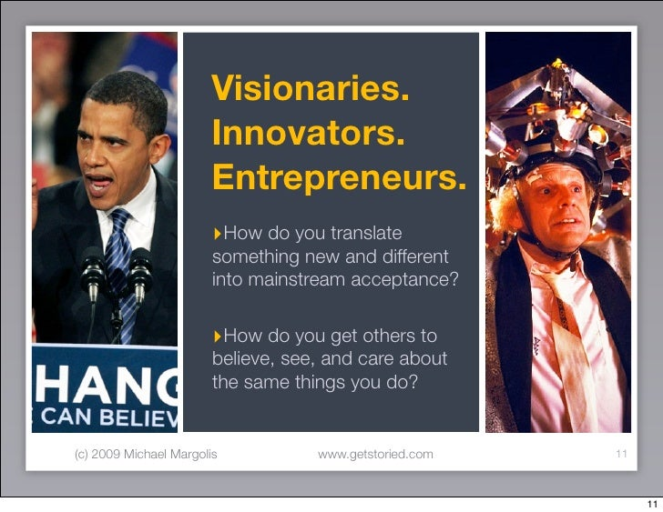 Visionaries.                         Innovators.                         Entrepreneurs.                         ‣How do yo...