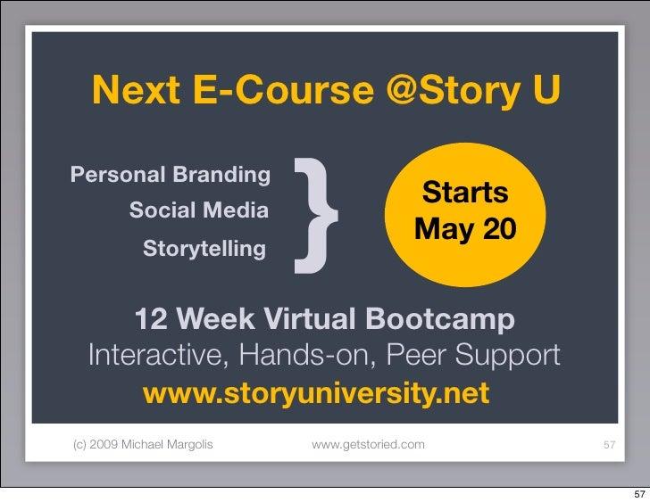 Next E-Course @Story U                               } Personal Branding                                             Start...