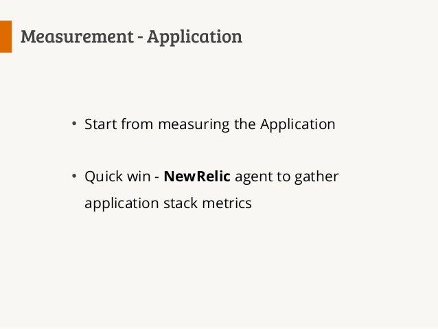 Measurement - Application