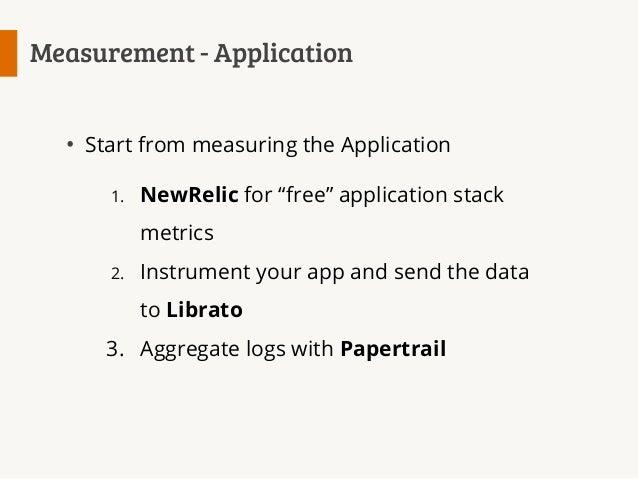 Measurement  NewRelic Librato (instrumentation) collectd