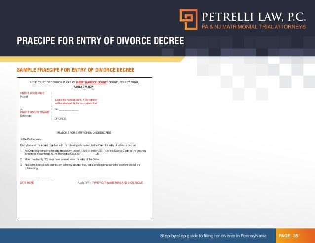 Do it yourself divorce 35 praecipe for entry of divorce decree solutioingenieria Images