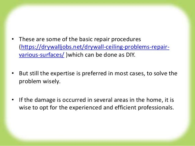 Diy drywall repair tips