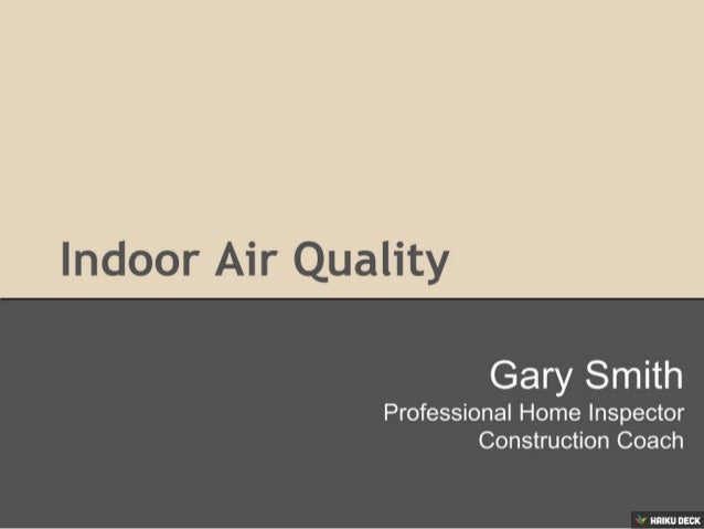 DIY Indoor Air Quality Inspection