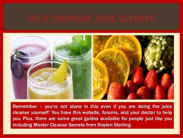 7 day juice cleanse do it yourself juice cleanse solutioingenieria Gallery