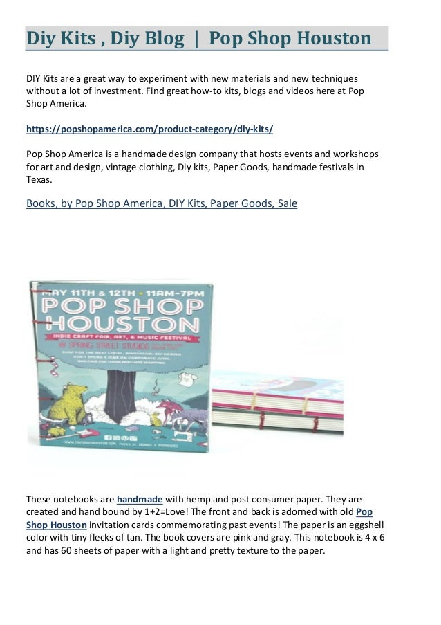 Diy Kits , Diy Blog | Pop Shop Houston DIY Kits are a great way to experiment with new materials and new techniques withou...