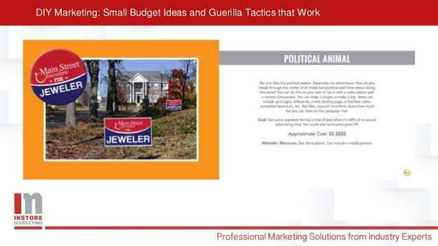 Diy marketing presentation Slide 3