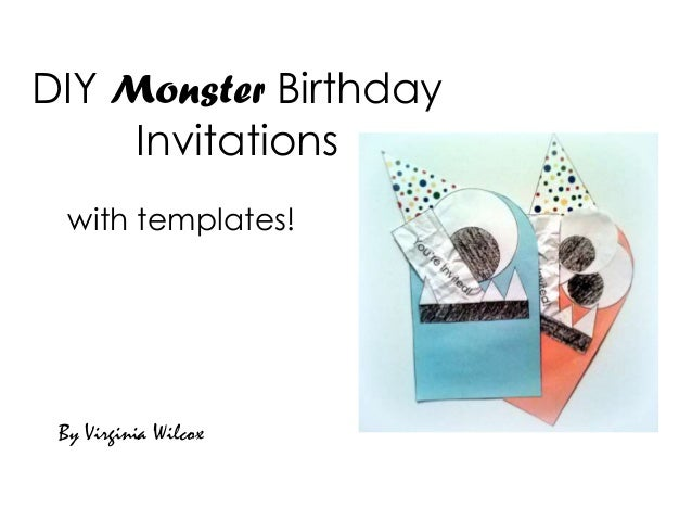 Diy monster birthday invitations