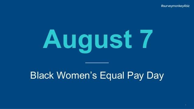 3 August 7 Black Women's Equal Pay Day #surveymonkey4biz
