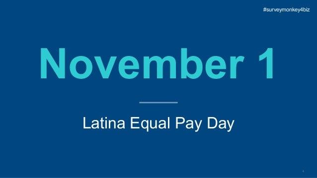 4 November 1 Latina Equal Pay Day #surveymonkey4biz