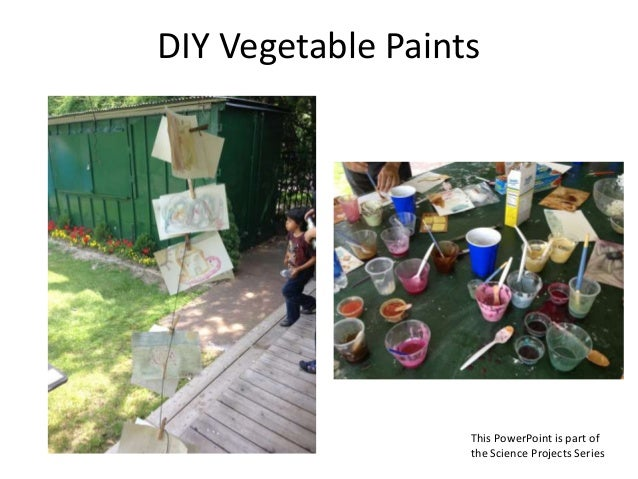 DIY Vegetable Paints This PowerPoint is part of the Science Projects Series