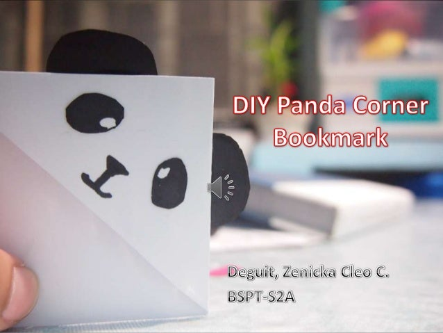 DIY Panda Corner Bookmark What To Prepare