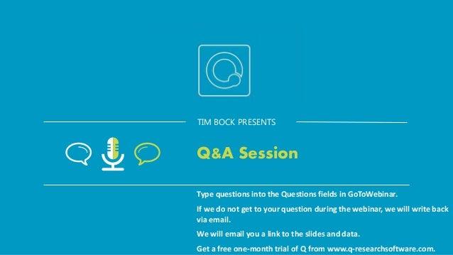 TIM BOCK PRESENTS Appendices