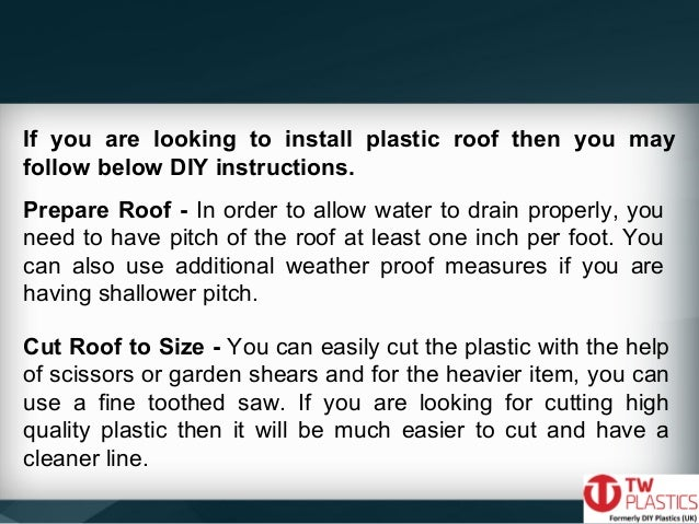 DIY Techniques to Install Corrugated Plastic Roofing