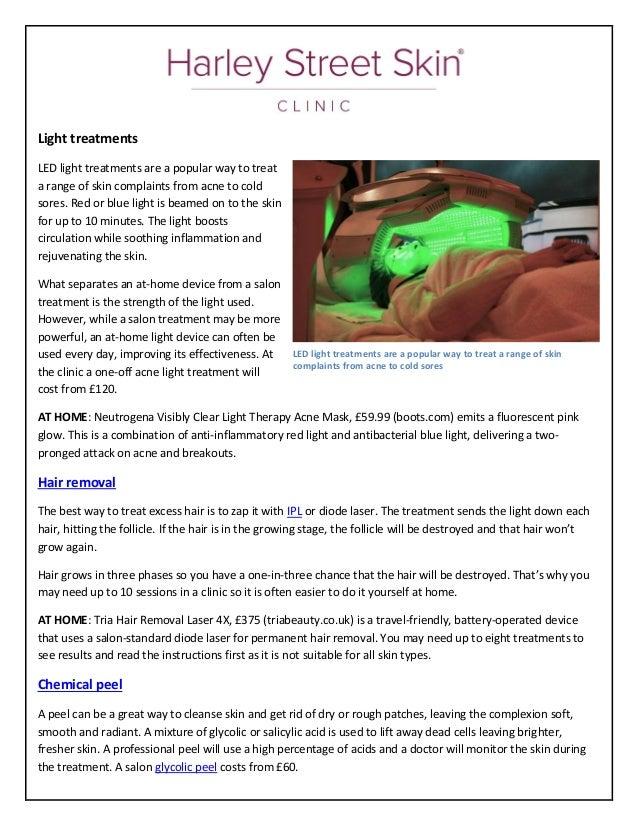 Diy tips will help you look ab fab at harley street skin clinic light treatments led solutioingenieria Gallery