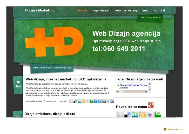 Dizajn i Marketing                                        home            logo dizajn           web marketing             ...