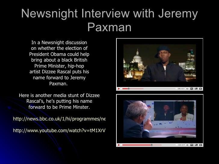 Dizzee rascal and jeremy paxman essay