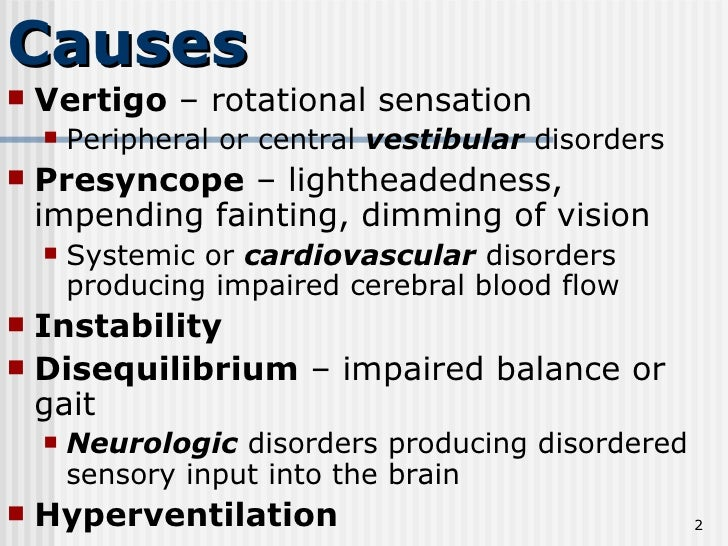 Causes ...
