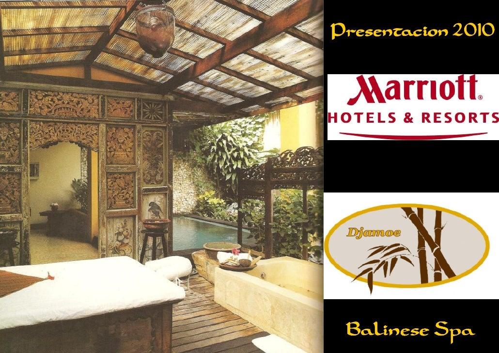 Presentacion 2010      Balinese Spa