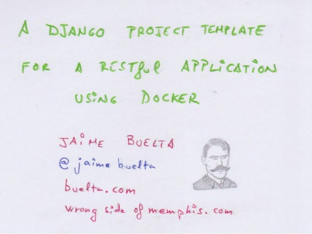 A Django project template for a RESTful application using Docker