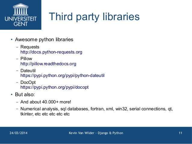 Django and Python Introduction @ UGent