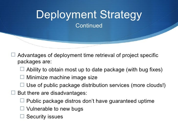 Deployment Tools <ul><li>At PBS we use the following tools for deployment: </li></ul><ul><ul><li>fabric, a Python library ...