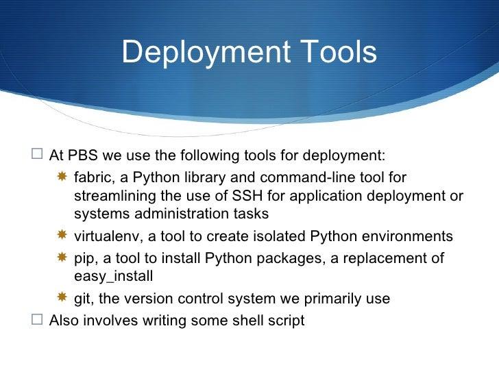 Deployment Procedure I <ul><li>Instantiate a new server on the cloud (no details) </li></ul><ul><li>Apache, MySQL, Python,...
