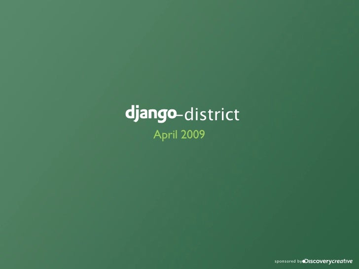 -district April 2009                     sponsored by