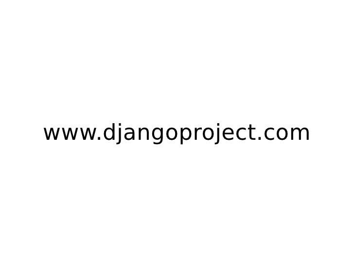 www.djangoproject.com