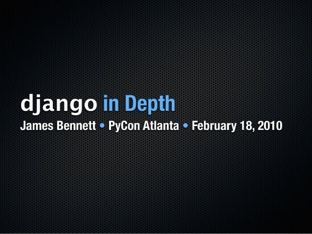 Django In Depth