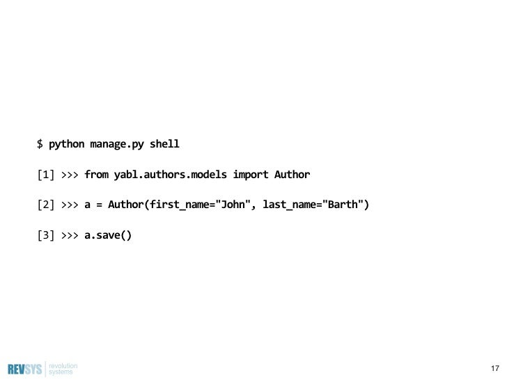 Introduction to django strange loop 2011 author model 16 35 pronofoot35fo Gallery