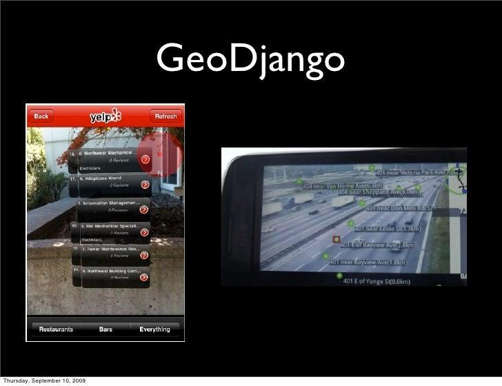 GeoDjango     Thursday, September 10, 2009