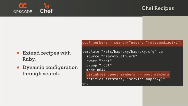 Real world django deployment using chef for Chef template variables
